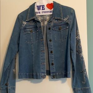 Jean jacket with embellishments